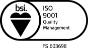 BSI Assurance Mark ISO 9001 KEYB Black White Transparent 175